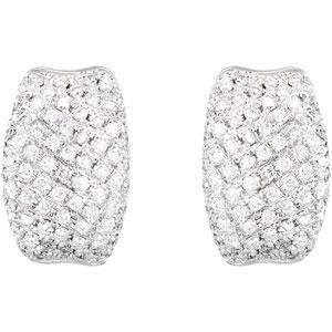 Diamond Earrings in 14k White Gold (0.9 Ct. tw.) (0.9 Ct. tw.)