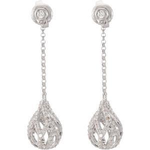 Diamond Earrings in 14k White Gold (1 Ct. tw.) (1 Ct. tw.)