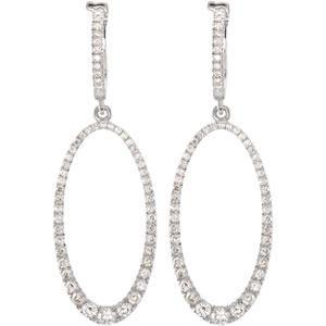 Diamond Earrings in 14k White Gold (1.25 Ct. tw.) (1.25 Ct. tw.)
