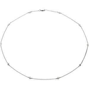 Diamond Fashion Necklace in 14k White Gold (0.16 Ct. tw.) (0.16 Ct. tw.)