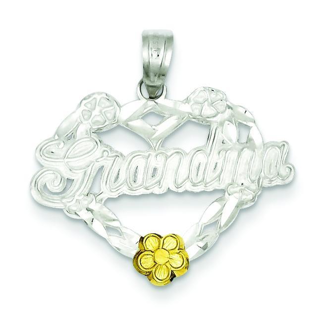 Grandma Heart Charm in Sterling Silver