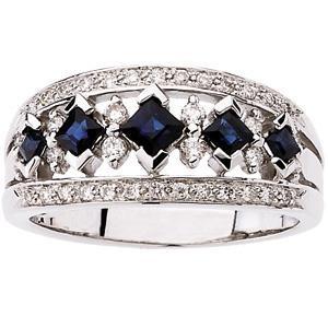 Diamond Gemstone Anniversary Rings  (0.25 Ct. tw.) (0.25 Ct. tw.)