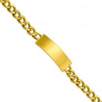 Small Polished ID Bracelet in Fashion