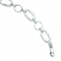 Circle Bracelet in Sterling Silver