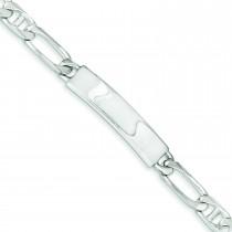 Polished Engravable Anchor Link ID Bracelet in Sterling Silver