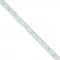 7inch Solid CZ Bracelet in Sterling Silver