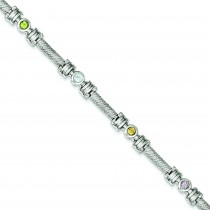 7inch  Multicolor Bracelet in Sterling Silver