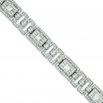 Pave CZ Bracelet in Sterling Silver