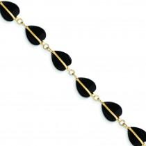 Black Onyx Bracelet in 14k Yellow Gold