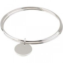 Triple Bangle Bracelet in Sterling Silver