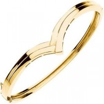 Hinged Bangle Bracelet in 14k Yellow Gold