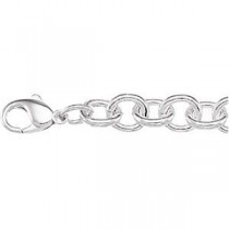 Fashion Link Bracelet in Sterling Silver