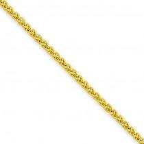 14k Yellow Gold 16 inch 1.45 mm Light Wheat Choker Necklace