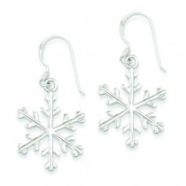 Snowflake Dangle Earrings in Sterling Silver