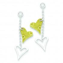 Vermil Textured Heart Post Earrings in Sterling Silver