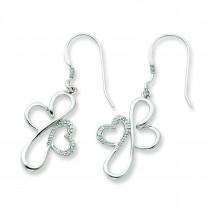 CZ Everlasting Love Earrings in Sterling Silver
