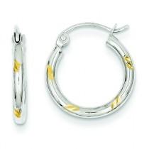 Hoop Earrings in 14k Two-tone Gold