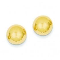9 Ball Post Earrings in 14k Yellow Gold