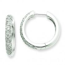 Diamond Hoop Earrings in 14k White Gold (0.55 Ct. tw.) (0.55 Ct. tw.)