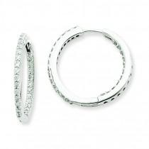 In Out Diamond Hoop Earrings in 14k White Gold (0.92 Ct. tw.) (0.92 Ct. tw.)