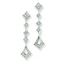 Diamond Vintage Earrings in 14k White Gold (0.1 Ct. tw.) (0.1 Ct. tw.)