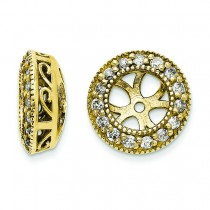 Diamond Earrings Jacket in 14k Yellow Gold (0.33 Ct. tw.) (0.33 Ct. tw.)