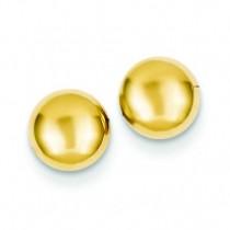 Half Ball Post Ear in 14k Yellow Gold