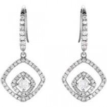 Diamond Earrings in 14k White Gold (0.75 Ct. tw.) (0.75 Ct. tw.)