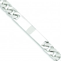 Curb Link ID Bracelet in Sterling Silver