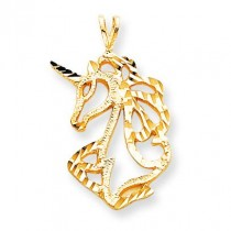 Unicorn Head Charm in 10k Yellow Gold
