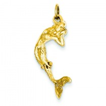 Mermaid Charm in 14k Yellow Gold