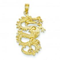 Dragon Pendant in 14k Yellow Gold