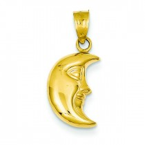 Moon Pendant in 14k Yellow Gold