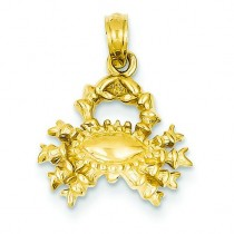 Cancer Zodiac Pendant in 14k Yellow Gold