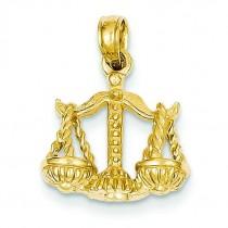 Libra Zodiac Pendant in 14k Yellow Gold