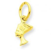 Nefertiti Charm in 14k Yellow Gold