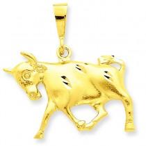 Taurus Zodiac Charm in 14k Yellow Gold