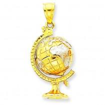Globe Pendant in 14k Yellow Gold