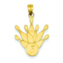 Pin Bowling Ball in 14k Yellow Gold