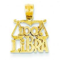 Libra Pendant in 14k Yellow Gold