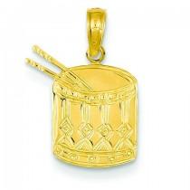 Drum Sticks Pendant in 14k Yellow Gold