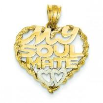 Soul Mate Pendant in 14k Yellow Gold