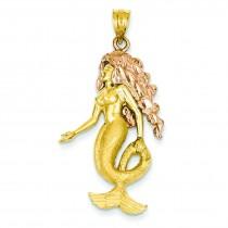 Mermaid Charm in 14k Two-tone Gold