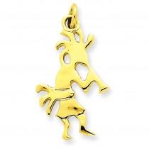 Kokopelli Charm in 14k Yellow Gold