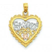 Sweet Heart Pendant in 14k Yellow Gold
