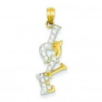 Love Pendant in 14k Yellow Gold