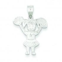 Cheerleader Charm in Sterling Silver