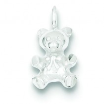 Teddy Bear Charm in Sterling Silver