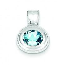 Blue Topaz Pendant in Sterling Silver