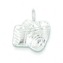 Diamond Cut Camera Charm in Sterling Silver